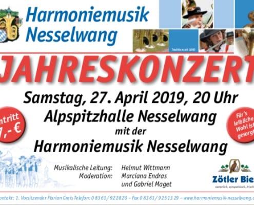 Jahreskonzert Harmoniemusik Nesselwang
